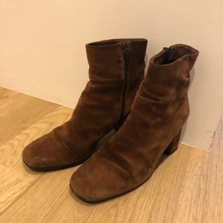 エディション(Edition)のedition オリジナル  スウェード 茶 スクエアトゥ 36サイズ(ブーツ)