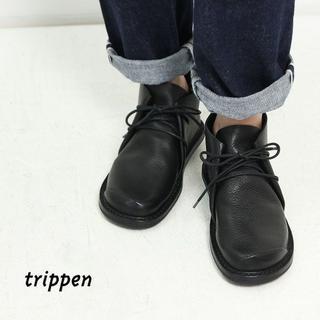 トリッペン(trippen)のトリッペン COSMOS♀レースアップ+Honnete ベロアプルオーバー(ブーツ)