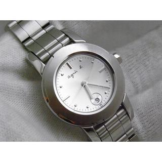 アニエスベー(agnes b.)のアニエスベー 腕時計 ラウンドフェイス デイト シルバー(腕時計)