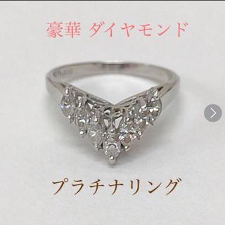豪華 ダイヤモンド  プラチナ リング 指輪 送料込み(リング(指輪))