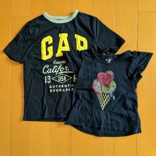 ギャップ(GAP)の兄妹お揃いコーデ GAP Tシャツ 105cm&130 ネイビー(Tシャツ/カットソー)
