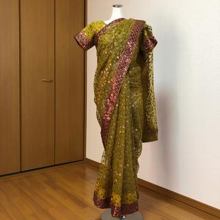 インドサリー サリー 民族衣装 スパンコール 豪華 結婚式にも
