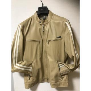 バーバリーブラックレーベル(BURBERRY BLACK LABEL)のバーバリーブラックレーベル 羊革ライダースジャケット M(ライダースジャケット)