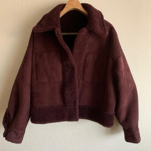 Ameri VINTAGE(アメリヴィンテージ)のAmeri vintage オーバーサイズ エコムートン コート レディースのジャケット/アウター(ムートンコート)の商品写真