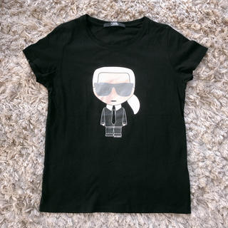 カールラガーフェルド(Karl Lagerfeld)の【美品】カールラガーフェルド♡半袖Tシャツ カットソー(Tシャツ(半袖/袖なし))
