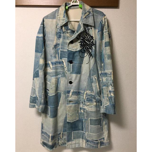 DRIES VAN NOTEN(ドリスヴァンノッテン)のドリスヴァンノッテン デニム コート ジャケット 刺繍 17ss メンズのジャケット/アウター(Gジャン/デニムジャケット)の商品写真