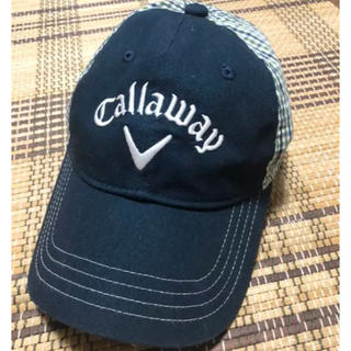 Callaway Golf - 美品 Callaway ゴルフキャップ紺、チェック柄
