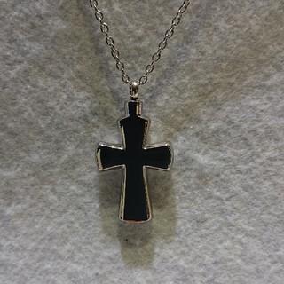 十字架(クロス)のメモリアルペンダント(遺骨ペンダント)ネックレス長さ50cm、(ネックレス)