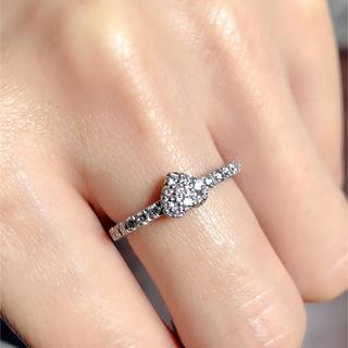 未使用品大人可愛い0.45ctキラキラダイヤモンドk18WGリング(リング(指輪))