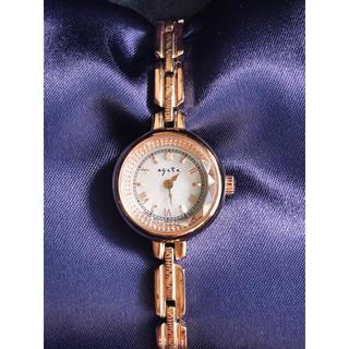agete - agete アガット ラウンドフェイスソーラー腕時計 ピンクゴールド¨̮♡︎