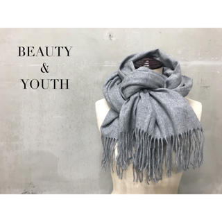 ビューティアンドユースユナイテッドアローズ(BEAUTY&YOUTH UNITED ARROWS)の【BEAUTY&YOUTH】大判マフラー ショール アローズ グレー(マフラー/ショール)