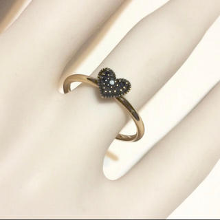 アガット(agete)のagete ブラックダイヤ リング(リング(指輪))