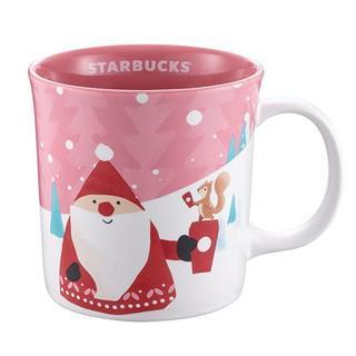 スターバックスコーヒー(Starbucks Coffee)のスターバックス[サンタクロース 雪 マグカップ]クリスマス限定 台湾 海外 (グラス/カップ)