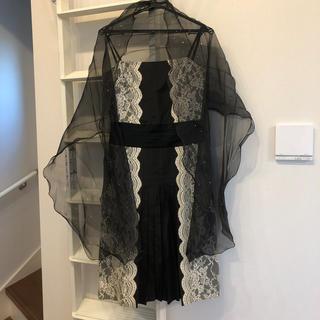 ユナイテッドアローズ(UNITED ARROWS)のドレス スカーフ セット 結婚式 二次会 パーティーなどに(ミディアムドレス)