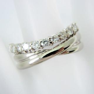 Pt900 ダイヤモンド リング 15.5号[g90-3](リング(指輪))