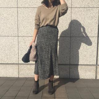 カプリシューレマージュ(CAPRICIEUX LE'MAGE)のCAPRICIEUX LE'MAGE レオパード スカート(ひざ丈スカート)