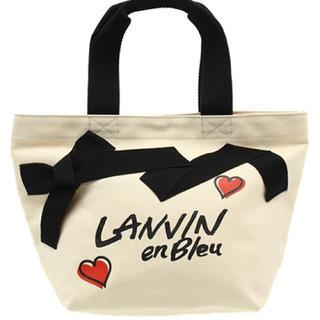 ランバンオンブルー(LANVIN en Bleu)の未使用 グログランリボンキャンバスバッグ LANVIN en Bleu(トートバッグ)