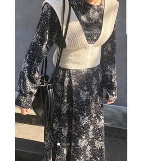 トゥデイフル(TODAYFUL)のTAN風knit ribbon bustier  ブランドはflenです。(ベスト/ジレ)