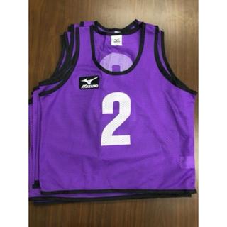 ミズノ(MIZUNO)の[ジュニア]ビブス紫(8枚セットNo.付) ミズノ (MIZUNO)(ウェア)
