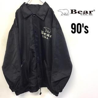 ベアー(Bear USA)の90's Bear USA  コーチジャケット 刺繍デカロゴ  (ナイロンジャケット)