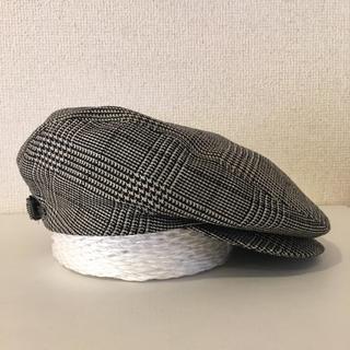 ハンチング帽  毛100%  サイズM  55㎝(ハンチング/ベレー帽)