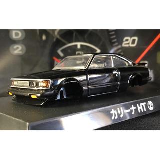 トヨタ(トヨタ)のアオシマ 1/64 グラチャン トヨタ カリーナ HT ハードトップ 黒 改(ミニカー)