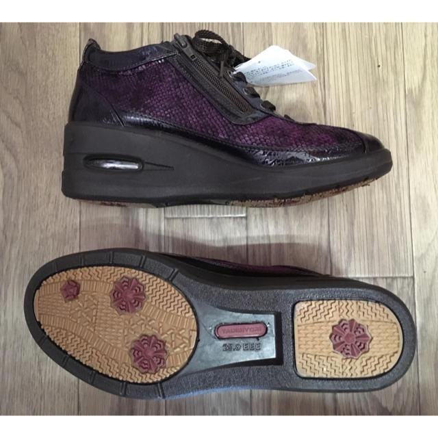 asics(アシックス)の●旅日和 アシックス商事 25㎝ パープル ウォーキングシューズ 厚底 レディースの靴/シューズ(スニーカー)の商品写真
