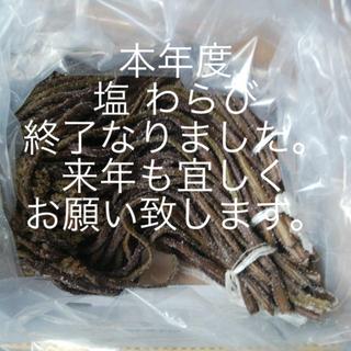 山形産 太め わらび 塩漬け(野菜)