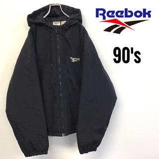 Reebok - 美品 90's Reebok ブルゾン 中綿入り 刺繍 デカロゴ