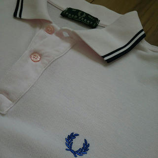 FRED PERRY - FRED PERRY フレッドペリー★ポロシャツ 40サイズ★ピンク×ネイビー