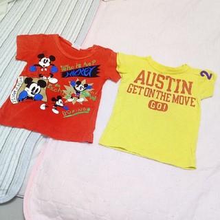 ミッキーマウス(ミッキーマウス)の90サイズ半袖Tシャツセットディズニーミッキーマウス(Tシャツ/カットソー)