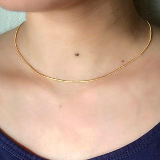 フレイアイディー(FRAY I.D)の18kgf ゴールド ネックレス チェーン チョーカー 刻印有 スネークチェーン(ネックレス)