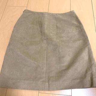 ビームス(BEAMS)のひざ丈スカート ベージュ(ひざ丈スカート)