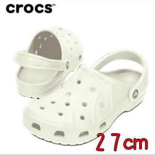 クロックス(crocs)の新品 27㎝ クロックス フィート ホワイト(サンダル)