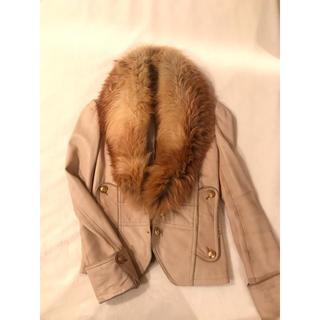ドゥーズィエムクラス(DEUXIEME CLASSE)のフォックス   ラム革ジャケット  定価138000円  85%OFF(毛皮/ファーコート)