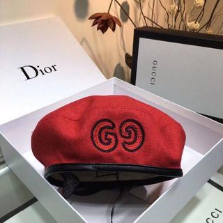 グッチ(Gucci)の人気 GG パッチ付きウール ベレー 帽子 GUCCI(グッチ)(ハンチング/ベレー帽)