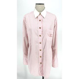 シャネル(CHANEL)のCHANEL☆P04308 シャツ ココマーク ストライプ ピンク ホワイト(シャツ/ブラウス(長袖/七分))