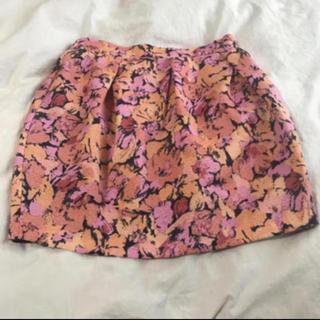 マーキュリーデュオ(MERCURYDUO)のMERCURYDUO 花柄ミニスカート(ミニスカート)