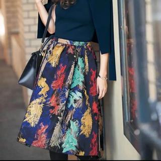 チェスティ(Chesty)の美品 チェスティPaint Jacquard Skirt(ひざ丈スカート)