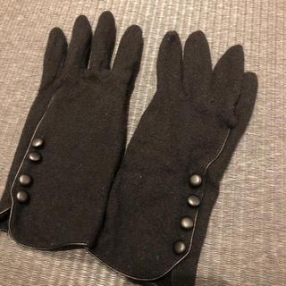 コムサイズム(COMME CA ISM)のCOMME CA ISM 黒 手袋 レディース(手袋)