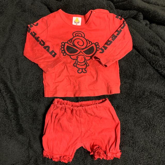 HYSTERIC MINI(ヒステリックミニ)の本日限定値下げヒスミニ セットアップ  キッズ/ベビー/マタニティのベビー服(~85cm)(Tシャツ)の商品写真