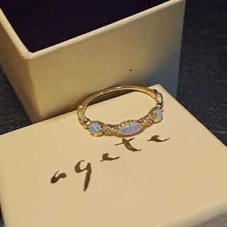 アガット(agete)のアガット(agete) オパール ダイヤ K14 指輪 リング 13号(リング(指輪))
