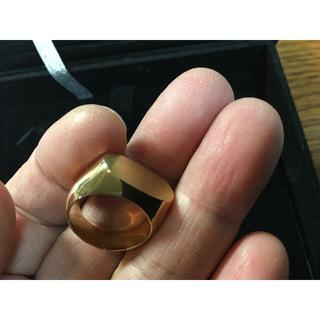 印台 k18リング ずっしり重い18.4グラム(リング(指輪))