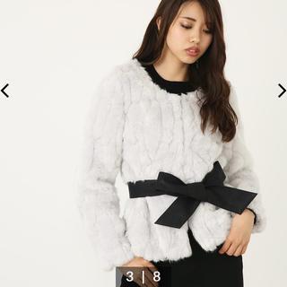 リエンダ(rienda)のBELT付 Faux Furショート コート rienda (毛皮/ファーコート)