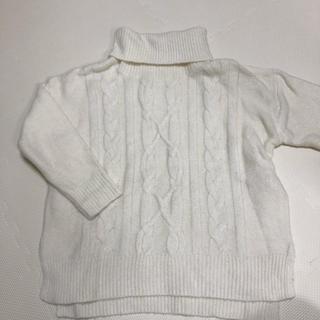 ショコラフィネローブ(chocol raffine robe)のタートルネック ゆったりニット(ニット/セーター)
