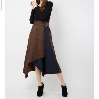 セシルマクビー(CECIL McBEE)のチェックブロッキングスカート(ロングスカート)