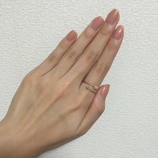 アクアガール(aquagirl)の天然石つきクロスリング(リング(指輪))