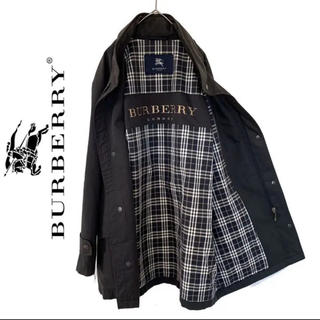 バーバリー(BURBERRY)のburberry  バーバリー ステンカラーコート チェック柄 ビッグロゴ(ステンカラーコート)
