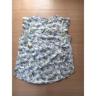 ジーユー(GU)のGU 花柄ブラウス(シャツ/ブラウス(半袖/袖なし))