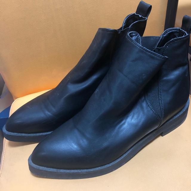 mercibeaucoup(メルシーボークー)のメルシーボークーブーツ24センチ黒 レディースの靴/シューズ(ブーツ)の商品写真